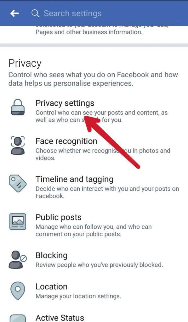 Privacy FB