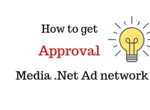How to get approval from media.net