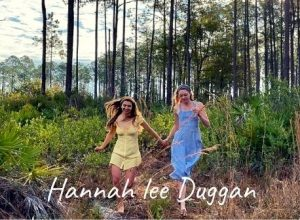 Hannah lee duggan with isable paige dancing in the forest of Florida