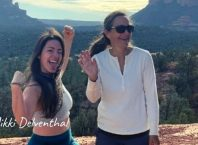 Nikki Delventhal with her mom hiking on her birthday