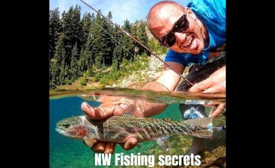 Nw fishing secrets Leif playing with rainbow trout